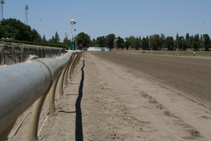 Sacramento Mile View of Front Stretch to Turn Four