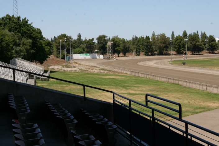 Sacramento Mile View of Turn 4 from Legends Club seats