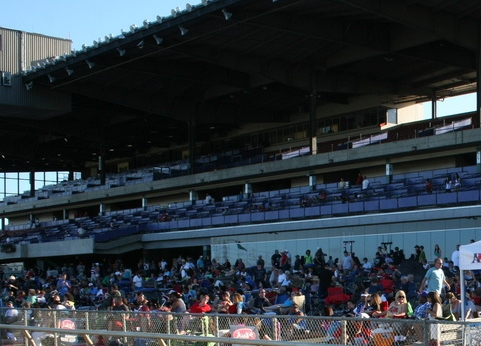 Sacramento Mile Trackside view of most of the grandstands prior to opening seating